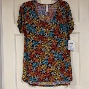 LuLaRoe multi-colored Classic T shirt XL NWT
